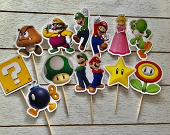 Super Mario Bros. Cupcake Toppers