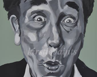 Titter ye not- Frankie Howerd fine art print, pop art, comedy, carry on, retro