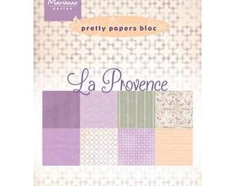 Block of 32 paper 15 x 21 cm MARIANNE DESIGN LA PROVENCE
