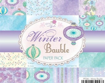 two pockets 15.2 36 papers x 15.2 cm Wild Rose WINTER BAUBLE