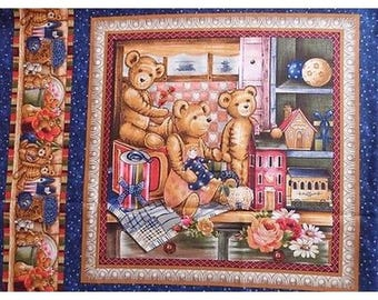 Fabric cotton pillows a teddy bear toy window sticker