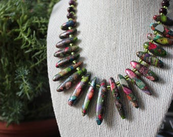 Stunning Green Stone Necklace
