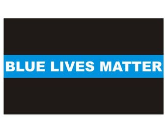 Thin Blue Line Blue Lives Matter Police Officer Law Enforcement Sticker / Decal #162 Made in U.S.A.