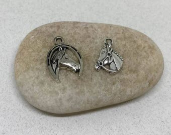 10 Pieces Horse Charm, Fairy Charm, Horse Jewelry, Lucky Horse Shoe Charm