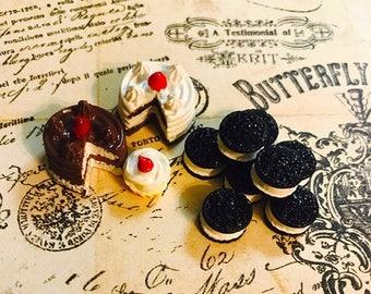 ON SALE Miniature Cakes Cupcakes Cookies Miniature food Dollhouse food