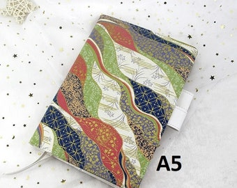 Cover for Hobonichi Techo A5 Size Japanese Design Planner, Organizer Notebook, Cloth Cover + PVC Cover on Cover