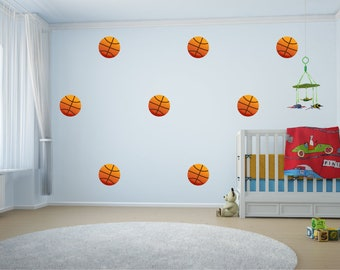 8 Large Basketball Childrens Wall Stickers