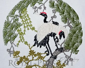 Herons Machine Embroidery Design