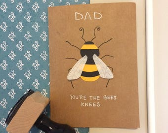 Fathers Day Card- Bees Knees