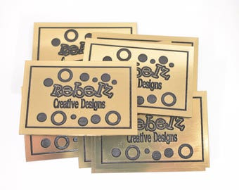 laser engraved business logo tags magnets cards