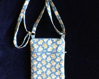 Cell phone bag; Small crossbody bag; Floral