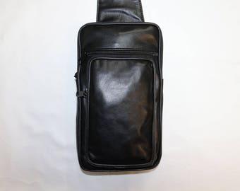 Men black shoulder bag