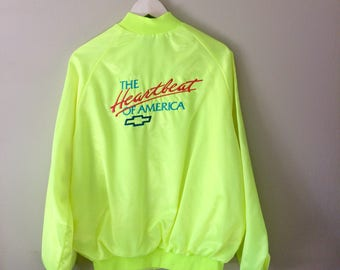 Vintage 90's Chevy Jacket (The Heartbeat of America)