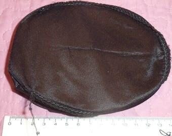 2 oval black nylon shoulder pads