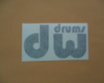 DW Drums - Vinyl Sticker in Black