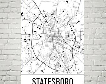 Statesboro Etsy - Georgia map statesboro