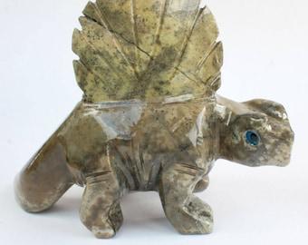 Dinosaur Dimetradon Carving Stone Carving Animal Fetish Figurine