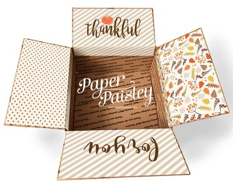 Care Package Sticker Kit - Thankful For You/Thanksgiving Care Package/Deployment/Military/Missionary/LDR/box flaps/shipping box/label