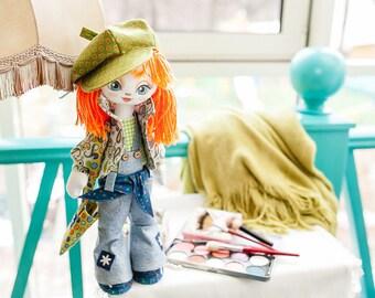 Doll Fashionista Sewing Kit Textile carcass doll  Interior Doll  Nova Sloboda