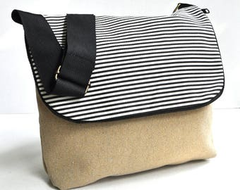 Canvas shoulder bag  , messenger bag  school back, shoulder bag ,cross body back, canvas shopping bag