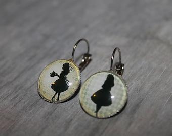 Alices - Stud Earrings in silver tone metal.