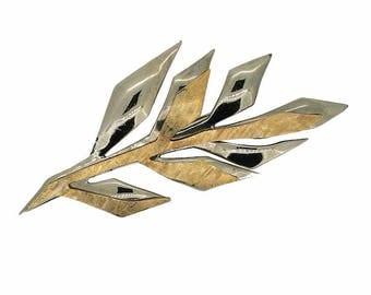Jean Louis Scherrer 1980s Vintage Leaf Brooch