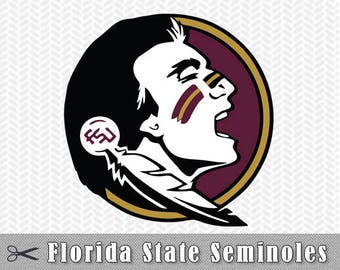 Florida State Seminoles Layered SVG Dxf Eps Logo Vector File Silhouette Studio Cameo Cricut Design space Template Stencil Vinyl Decal Tshirt