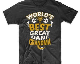 World's Best Great Dane Grandma Graphic T-Shirt
