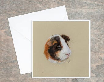 Animal Cards, Animal Art, Greeting Card, Blank Greeting Card, Personalised Card, Printed Card, Guinea Pig Card, Guinea Pig, PACK OF 5