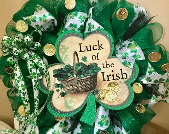 Shamrock St. Patrick's Day Wreath