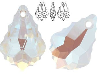 Swarovski Crystal 6090 Baroque 16mm, 22mm - Crystal Blue AB