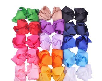 """15 6"""" DOUBLE STACKED HAIRBOWS"""