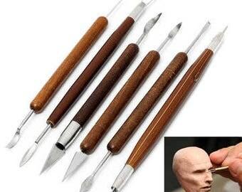 6pcs Assorted Polymer Clay Pottery Ceramics Sculpting Carving Tools Craft