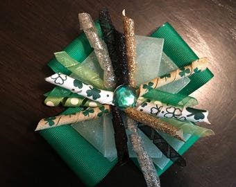 St. Patrick's Day Stacked Korker Bow