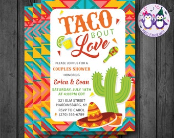 Taco Bout Love Couples Shower Invitation, Bridal Shower Invitation