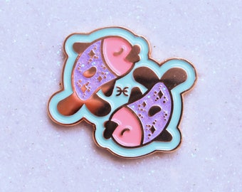 Pisces Zodiac Star Sign Enamel Pin (and others Star signs!)