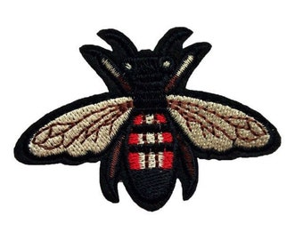 Moth Insect Fly Iron on Embroidered patch Appliqué