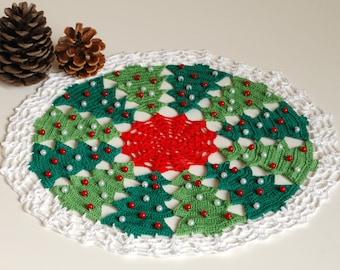 Crochet Doily Christmas Doily Christmas Tree Doily Christmas Home Decor Christmas Tree Decor Christmas Decoration xmas Decor Holiday Doily