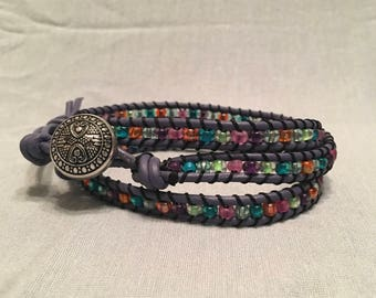 Jewel Tones Wrap Bracelet