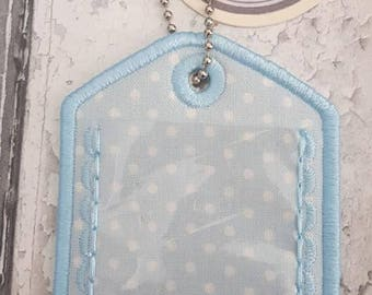Digital File: 1 Shell lace Luggage Label 4x4 & 5x7 ITH designs