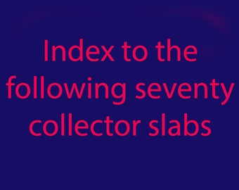 Index of the sources of the 70 Slabs