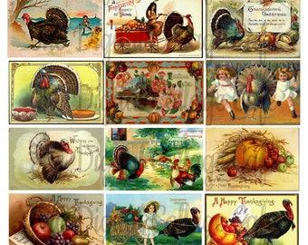 Vintage Thanksgiving I Digital Collage Sheet - TT - 024 - Instant  Download