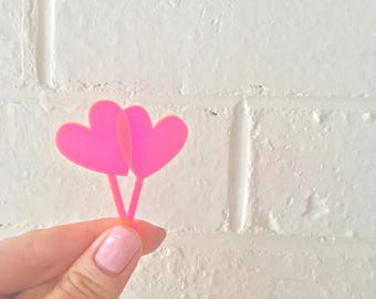Heart Tiny Toppers (set of 12)