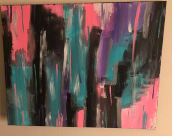 Customizable (up to 5 colors) modern abstract painting