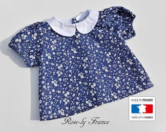 SALE! Baby blue and white liberty shirt blouse