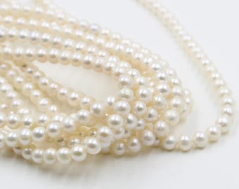 8 mm white round freshwater pearls, white round pearl,15'' full strand, round pearl strands, pearl wholesale