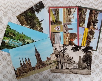 Set of thirteen vintage  postcards, vintage art postcards, collectible postcard,  vintage souvenir World cities, old postcards of Germany