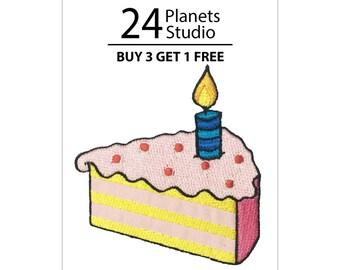 Birthday Cake HBD Iron on Patch by 24PlanetsStudio