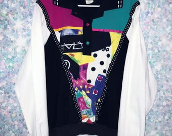 Vintage Colorblock 90s 80s Pullover Windbreaker Jacket