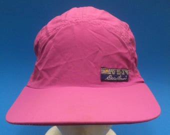 Vintage Eddie Bauer strap back hat long bill